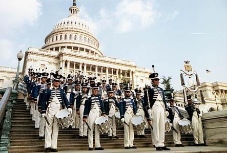 Vor dem Capitol in Washington im Jahre 1982