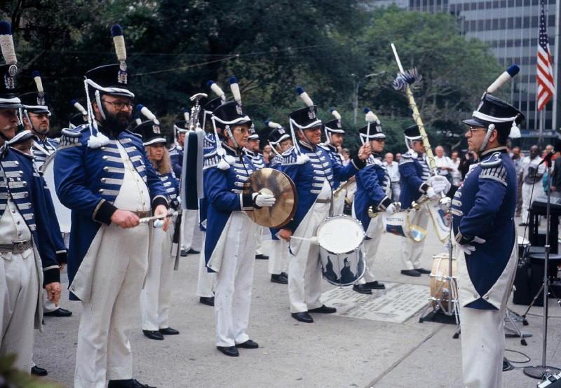 Ständchen vor dem Rathaus in New York