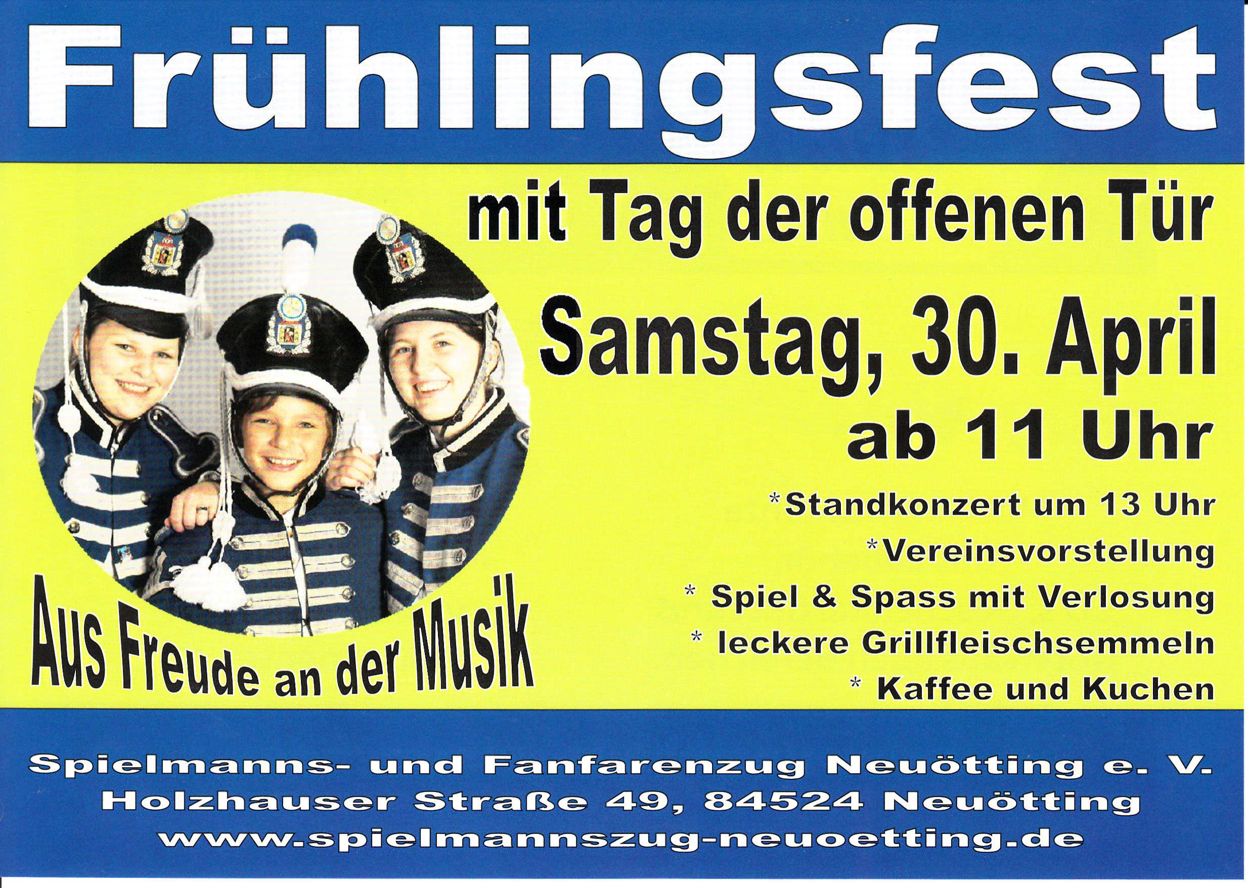 Plakat Frühlingsfest
